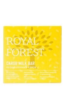 Шоколад из необжаренного кэроба Carob milk bar (Royal Forest), 75 г